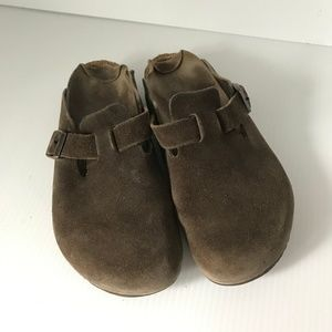 BIRKENSTOCK Boston Unisex Suede Mule Clogs 40